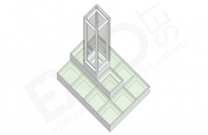Expo Set - Zvyšovák s vitrínou